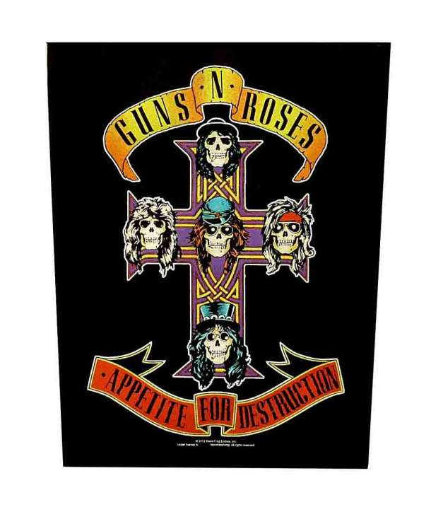 Parche para espalda GUNS N ROSES - Appetite For Destruction