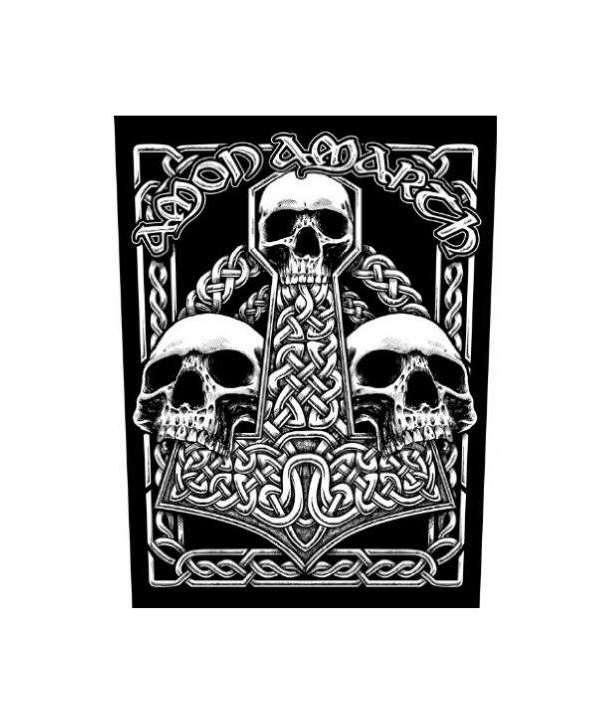 Parche para espalda AMON AMARTH - 3 Skulls