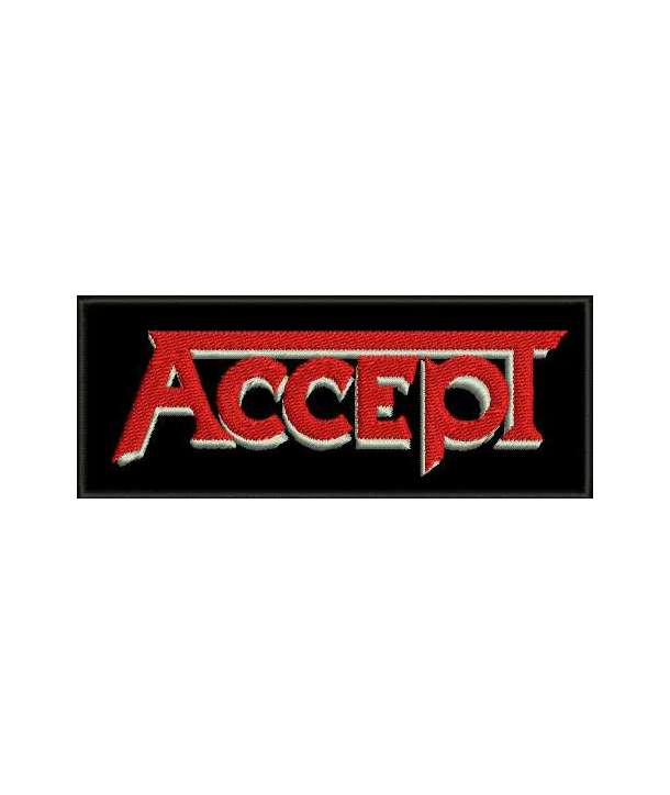 Parche ACCEPT - Logo Bordado