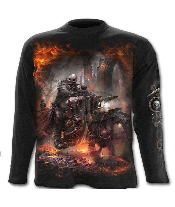 Camiseta SPIRAL Steam Punk Rider Manga Larga