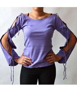 cb63109f39 Camiseta Morada Cordones Chica Spiral