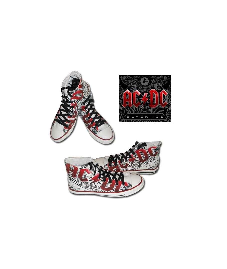 zapatillas acdc black ice logo rojo house of rock