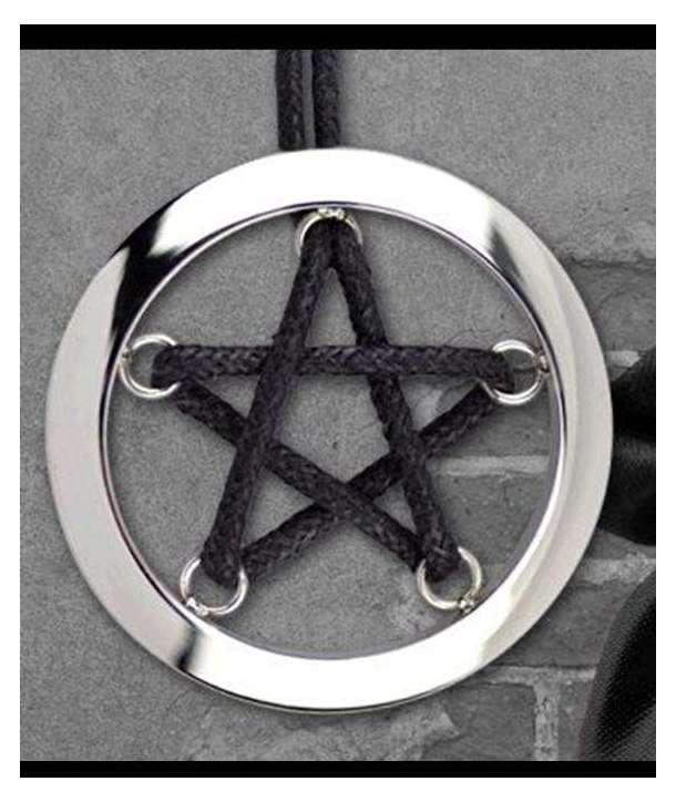 Colgante Pentagram Cordón Acero