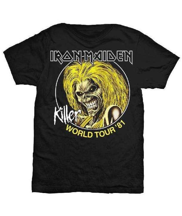 Camiseta IRON MAIDEN - Killer World Tour 81