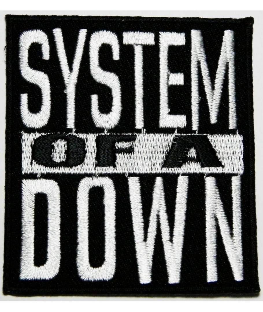 90a6ddfbe3 Parche SYSTEM OF A DOWN - Logo Bordado
