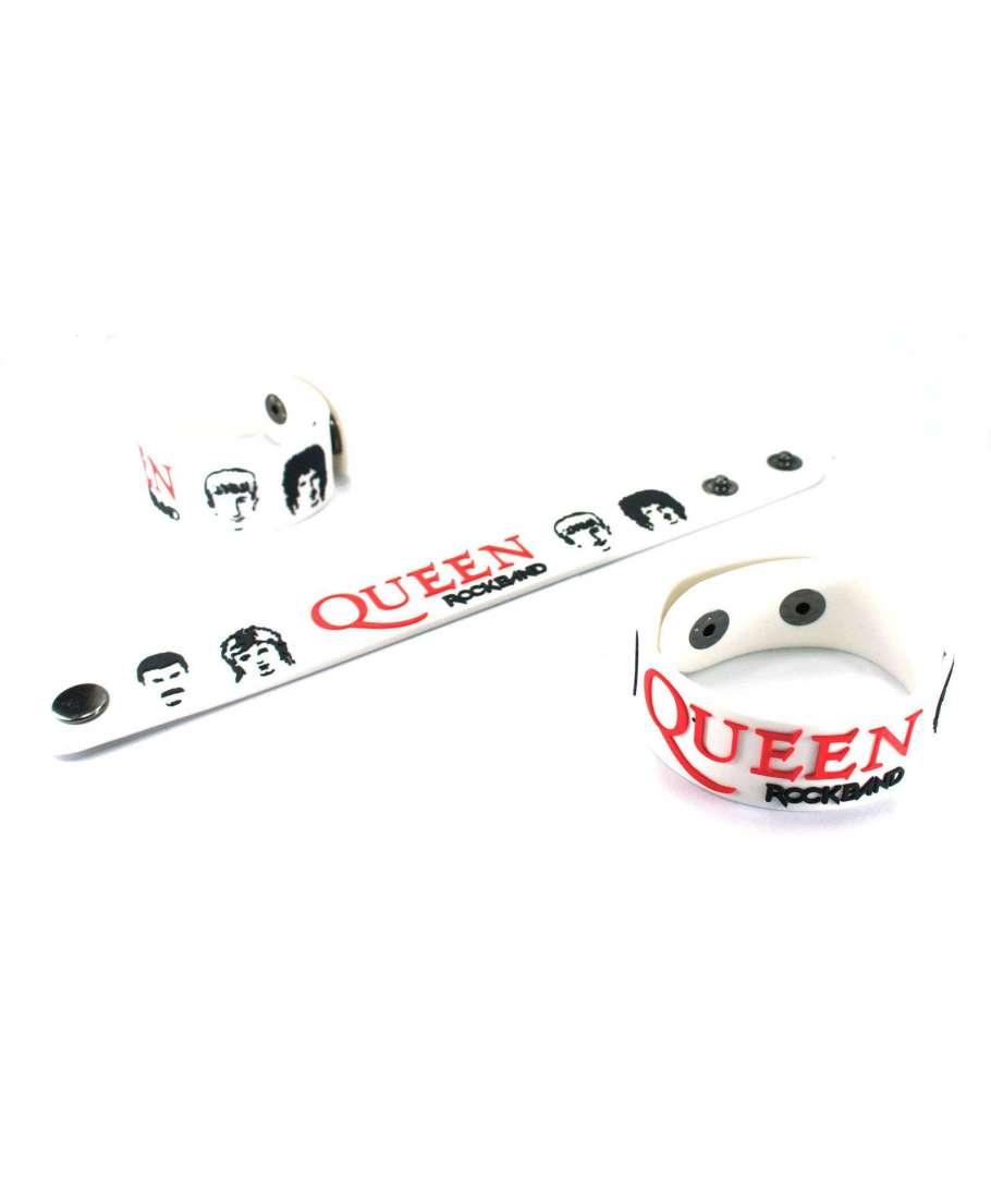 Pulsera de goma QUEEN , Band Blanca