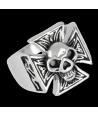 Anillo Calavera Iron Cross Acero