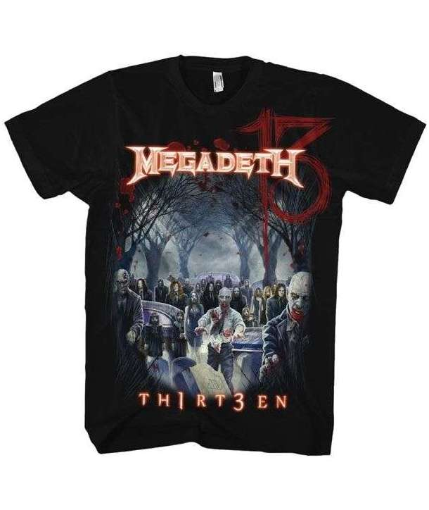 bd7fc0b48997b Camiseta MEGADETH - 13 Thirt3en - House of Rock