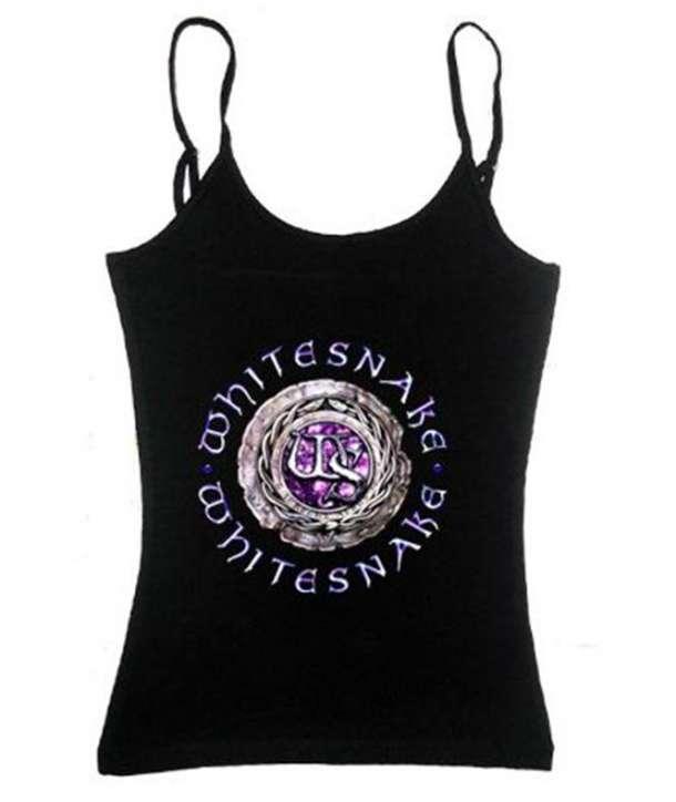 e5bcdd4af Camiseta WHITESNAKE - Logo Purple Tirantes Chica - House of Rock