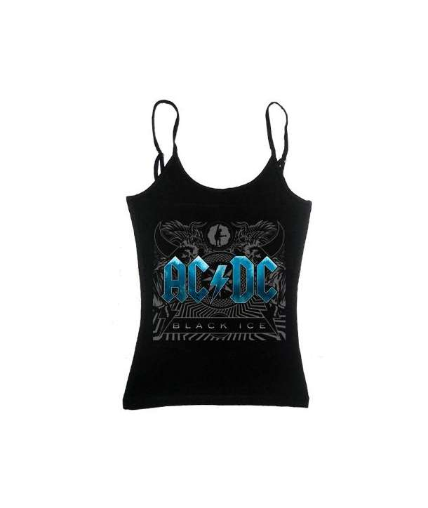 Camiseta ACDC - Black Ice Tirantes Chica