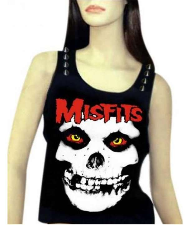 Camiseta MISFITS - Skull Logo Tirantes Chica