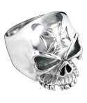 Anillo Calavera Iron Cross Plata