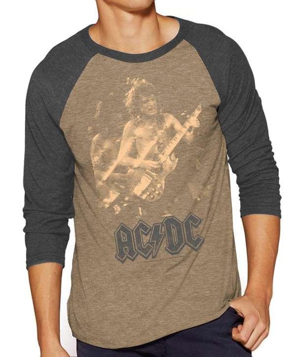 bf02103ce Camiseta ACDC - Photo Angus Raglan - House of Rock