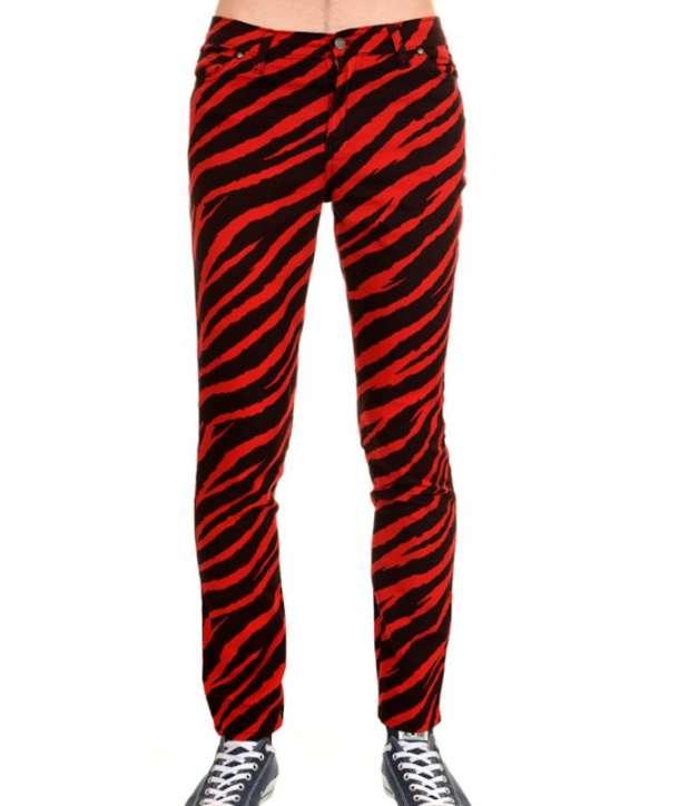 Pantalón Elástico Cebra Rojo Negro