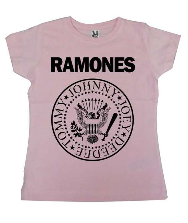 Camiseta niño/a RAMONES - Logo ROSA