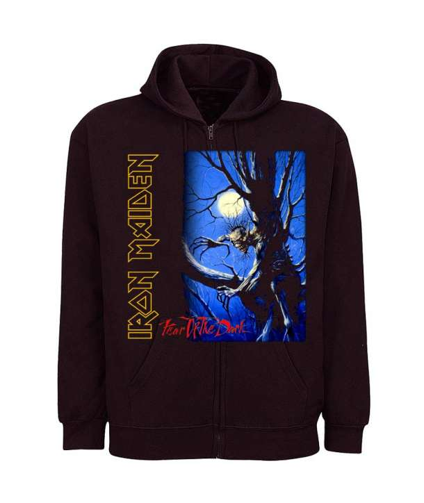 Sudadera IRON MAIDEN - Fear Of The Dark con Cremallera