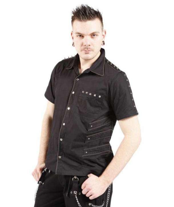 Camisa remaches manga corta