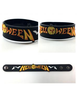d1ad900bc455 Pulsera de goma HELLOWEEN - Logo Bats