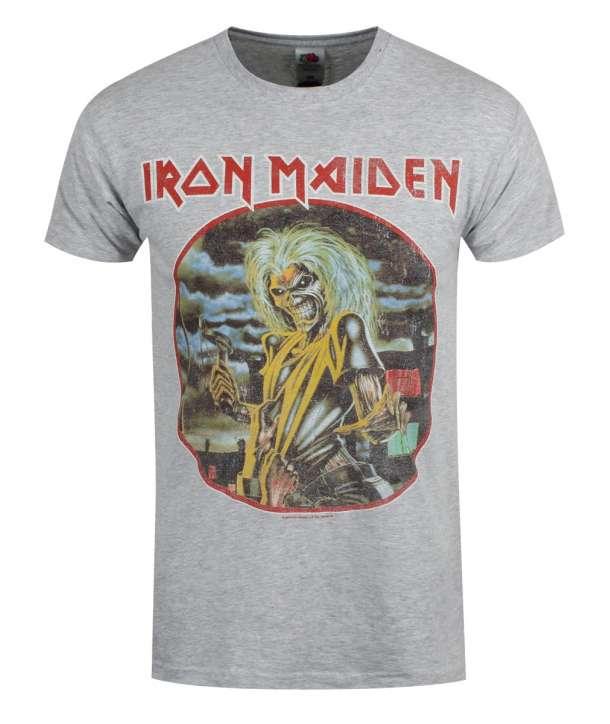 Camiseta IRON MAIDEN - Killers Circulo Vintage Gris