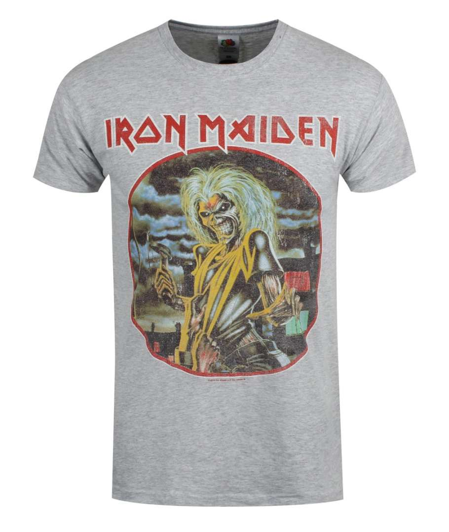 Camiseta IRON MAIDEN - Killers Circulo Vintage Gris - House of Rock b6eec075919d0