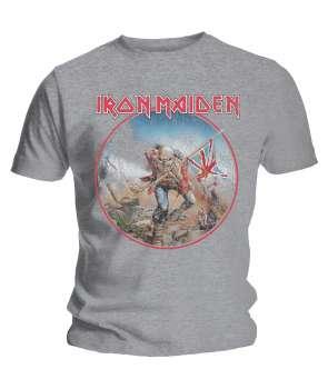 fedfd16062 Camiseta IRON MAIDEN - The Trooper Vintage Gris