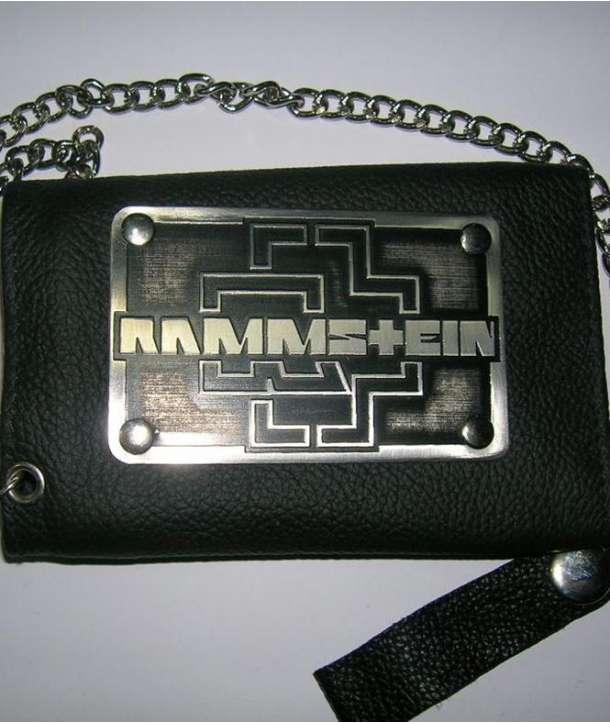 Cartera Cuero RAMMSTEIN - Logo con cadena