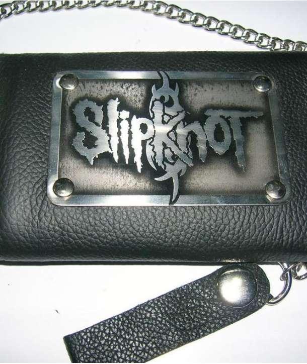 Cartera Cuero SLIPKNOT - Logo con cadena