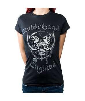 d46435c363 Camiseta para chica MOTORHEAD - England Diamantes
