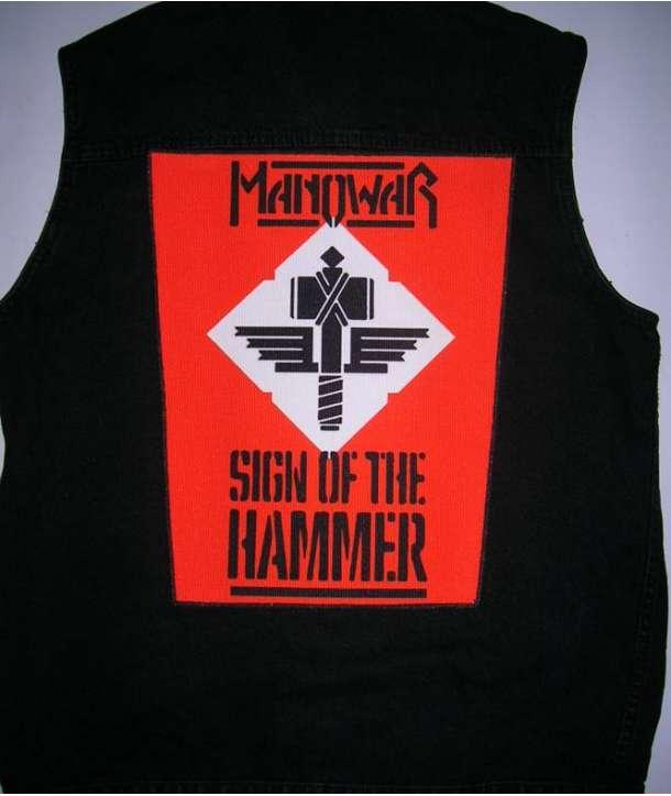 Parche para espalda MANOWAR - Sign Of The Hammer