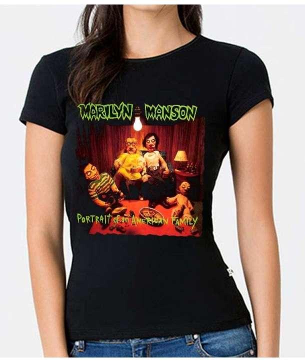 Camiseta para chica MARILYN MANSON - Portrait American Family