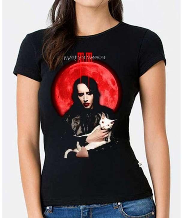 Camiseta para chica MARILYN MANSON - Cat