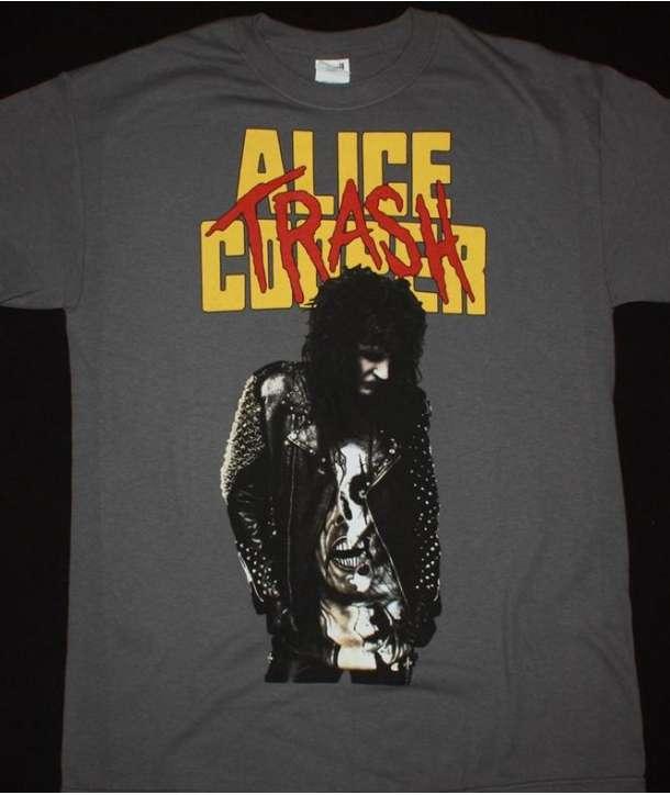 Camiseta ALICE COOPER - Trash Gris