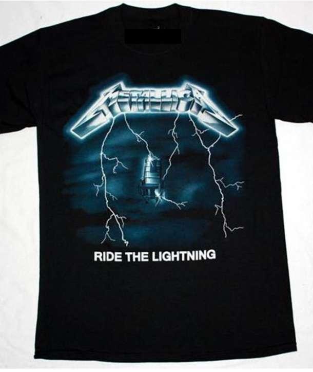 Camiseta METALLICA - Ride The Lightning Tour 84-85