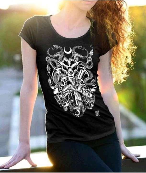 Camiseta para chica HOUSE OF ROCK - Madness Chaos PREVENTA