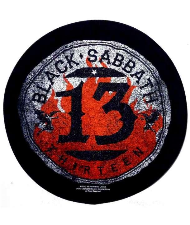 Parche para espalda espaldera BLACK SABBATH - 13 Redondo