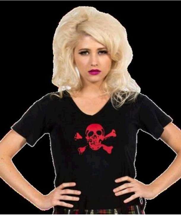 Camiseta para chica Calavera Roja
