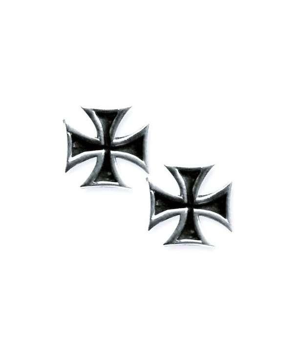 Pendientes Iron Cross Plata (par)