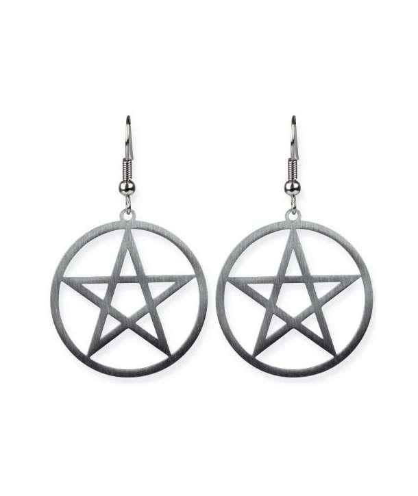 Pendientes Pentagram Grande Acero (Par)