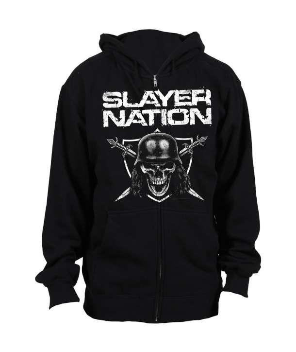 Sudadera SLAYER - Nation con cremallera