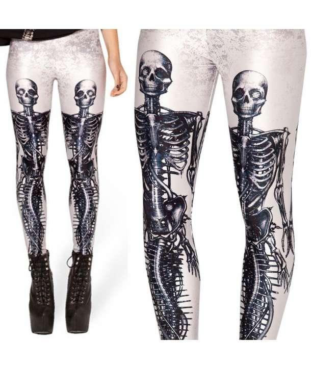 Leggins Esqueleto Biónico Blancos