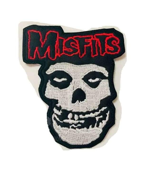 Parche MISFITS - Skull Red Logo Bordado