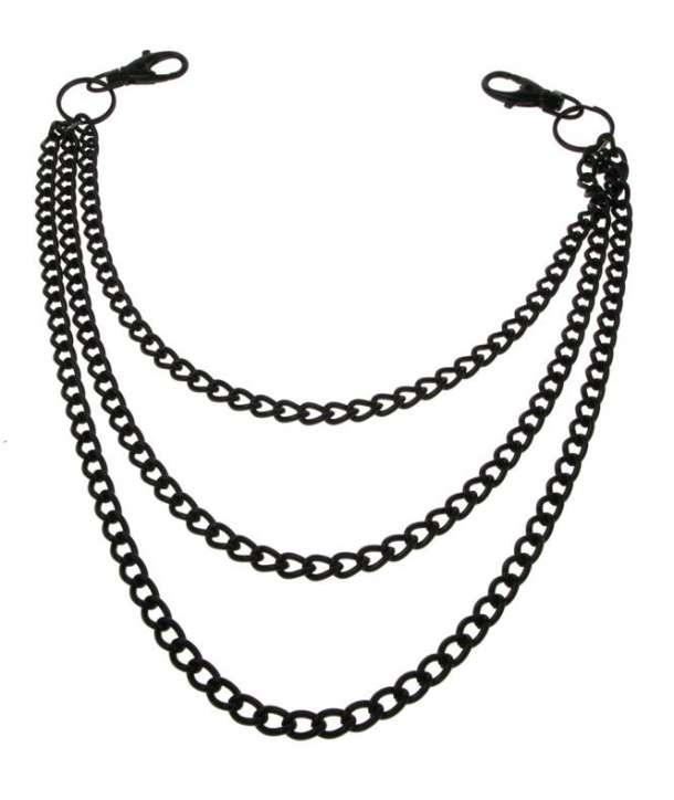 Cadena Negra Triple para Cartera / Llaves