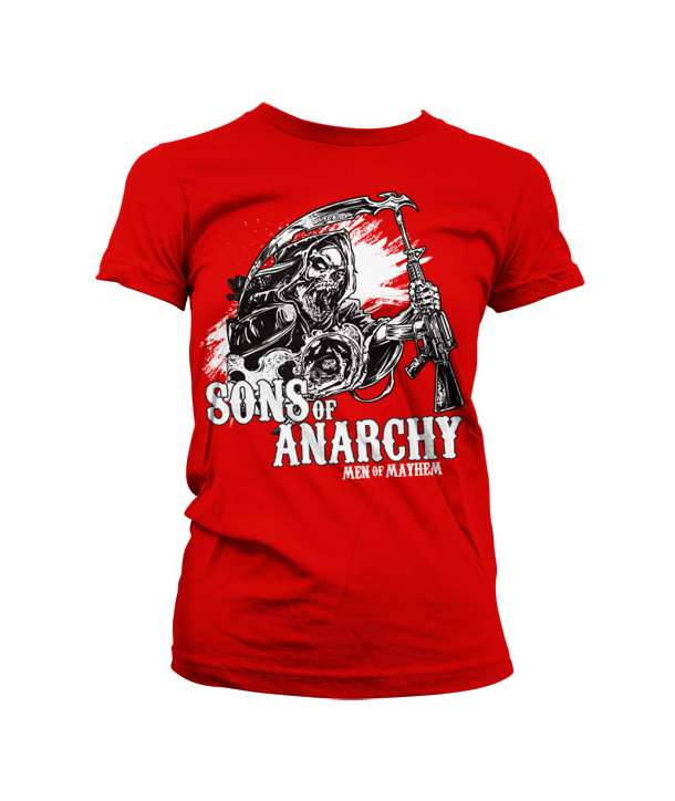 Camiseta para chica SONS OF ANARCHY - AK Reaper Roja