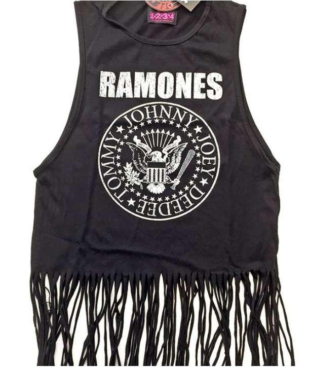 Camiseta RAMONES - Vintage Logo Tirantes Flecos