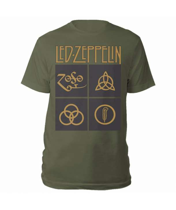 Camiseta LED ZEPPELIN - Gold Symbols