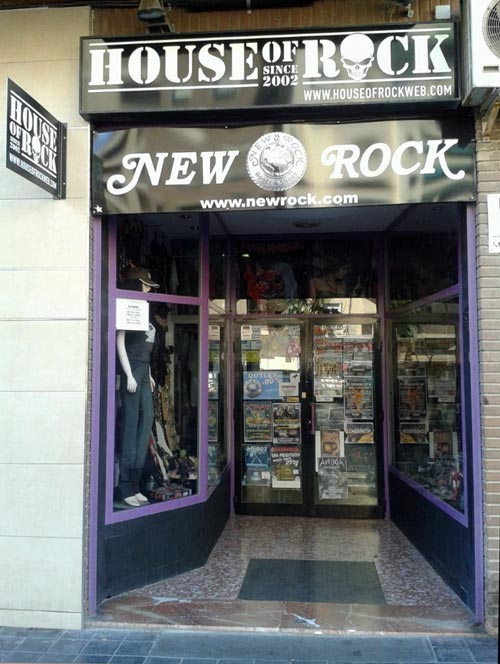 Fachada tienda House of Rock